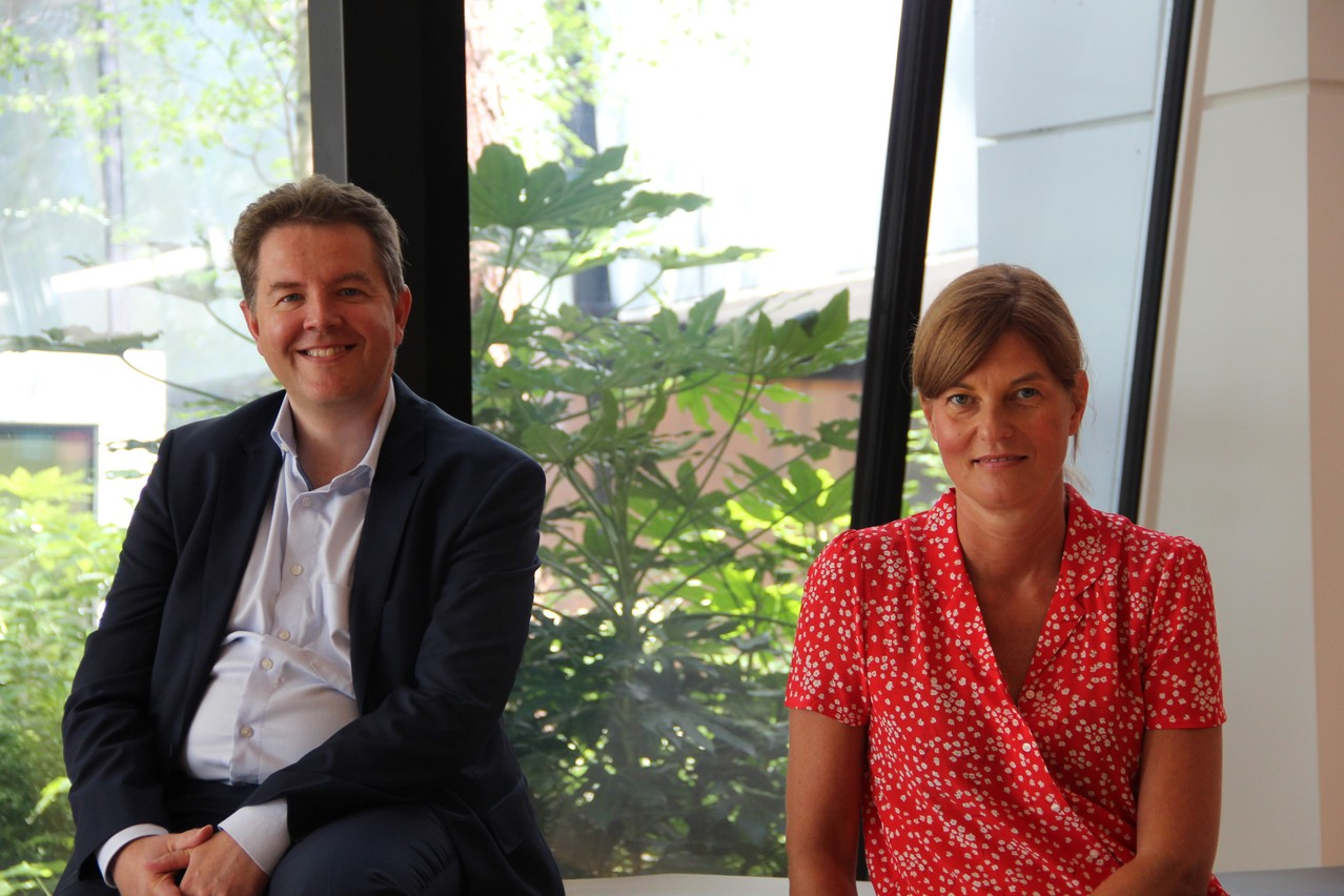Peter Vermeulen etAnne-Kathrin Grutzner veillent à la politique RSE du groupe Foyer. (Photo: Foyer)