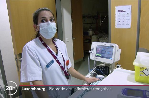 La moitié du personnel soignant au Luxembourg est frontalier, rappelle France 2 dans son reportage diffusé lundi soir. (Photo: Capture d'écran France 2)