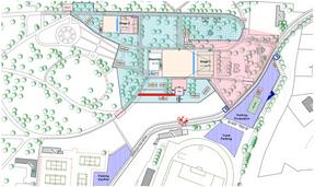 Plan d'implantation sur le site duGaalgebierg. ((Illustration: Rockhal))