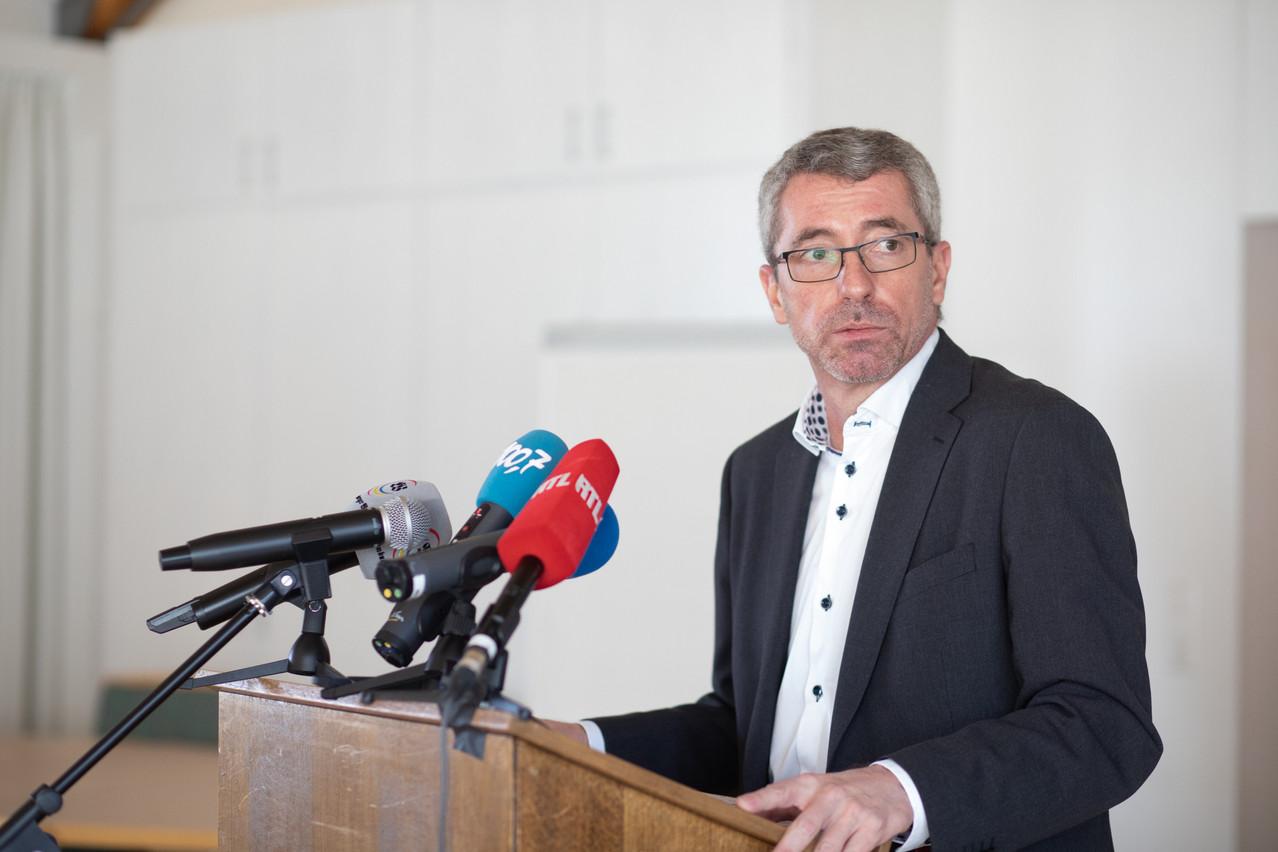 Aucun membre du CSV n'était présent lors de la conférence de presse du président du parti, FrankEngel, qui n'a pas eu lieu au siège du parti, mais au couvent des sœurs franciscaines, à Belair. (Photo: Matic Zorman/Maison Moderne)
