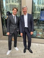 CEO of Our Choice Fashion, Filip Westerlund (left) andRomain Muller. Jim Kent