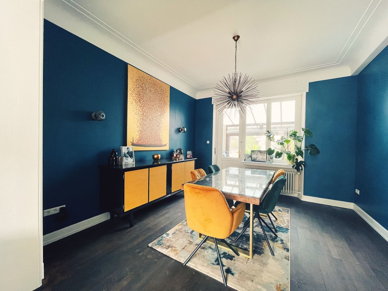 The dining room of this home in Ettelbruck was completely refurbished. Photo provided by Rachel & Michael