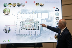 Philippe Baudry détaille l'affectation du bâtiment tel qu'il se présentera. (Matic Zorman / Maison Moderne)