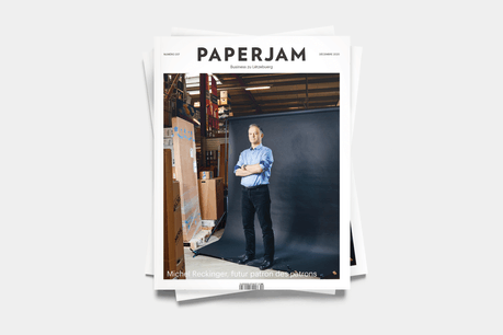 Michel Reckinger en couverture du nouveau Paperjam. (Photo: Andrés Lejona / Maison Moderne)