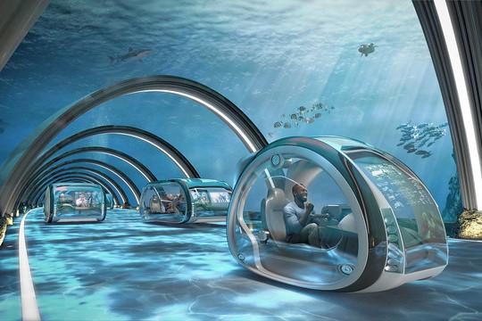 Des autoroutes sous la mer relieront le Royaume-Uni à la Scandinavie. (Photo: Samsung/Preconstruct)