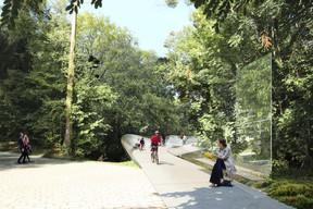Actuellement, l'accès est difficile pour les piétons et les cyclistes. ((Illustration: Marc Mimram Ingénierie))