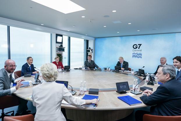 Cela faisait deux ans que les membres du G7 ne s'étaient pas réunis physiquement dans ce cadre. (Photo: Twitter)