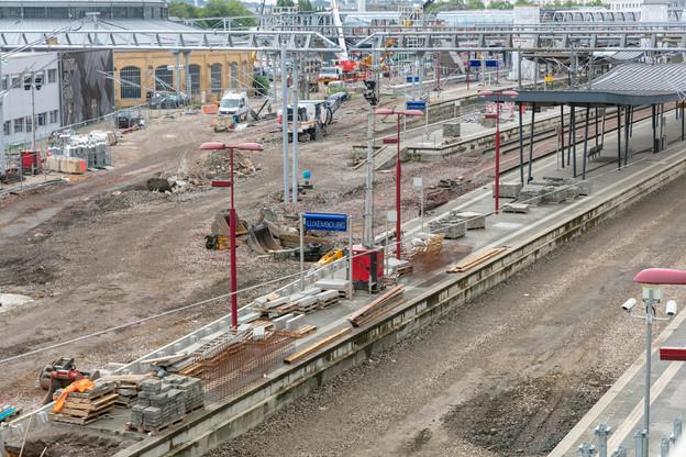 Le côté nord de la gare est littéralement sans ses rails. (Photo: Romain Gamba / Maison Moderne)
