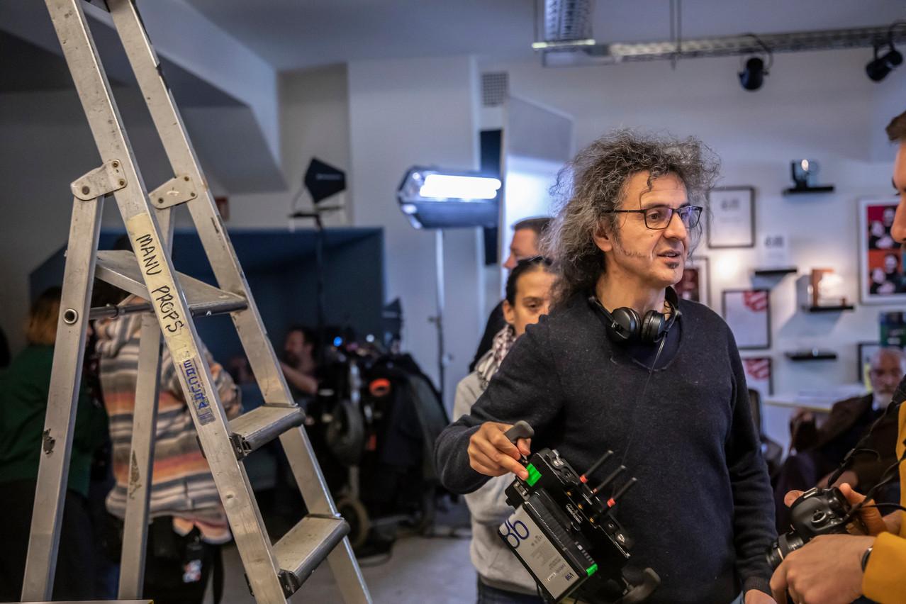Donato Rotunno, réalisateur de «Io sto bene», sur le tournage du film. (Photo: Jan Hanrion)