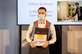 Nathan Roellinger,Sommelier de l'année Gault&Millau Luxembourg 2021. ((Photo: Romain Gamba / Maison Moderne))