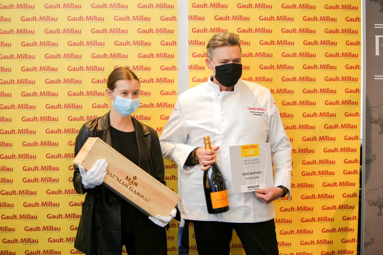 Charline Wengler et René Mathieu, Chef de l'année Gault&Millau Luxembourg 2021. Romain Gamba / Maison Moderne
