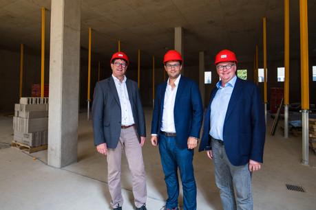 Nico Biever,AlainWildanger et Gilles Reinert, le trio de la direction de Genista. (Photo: Nader Ghavami)
