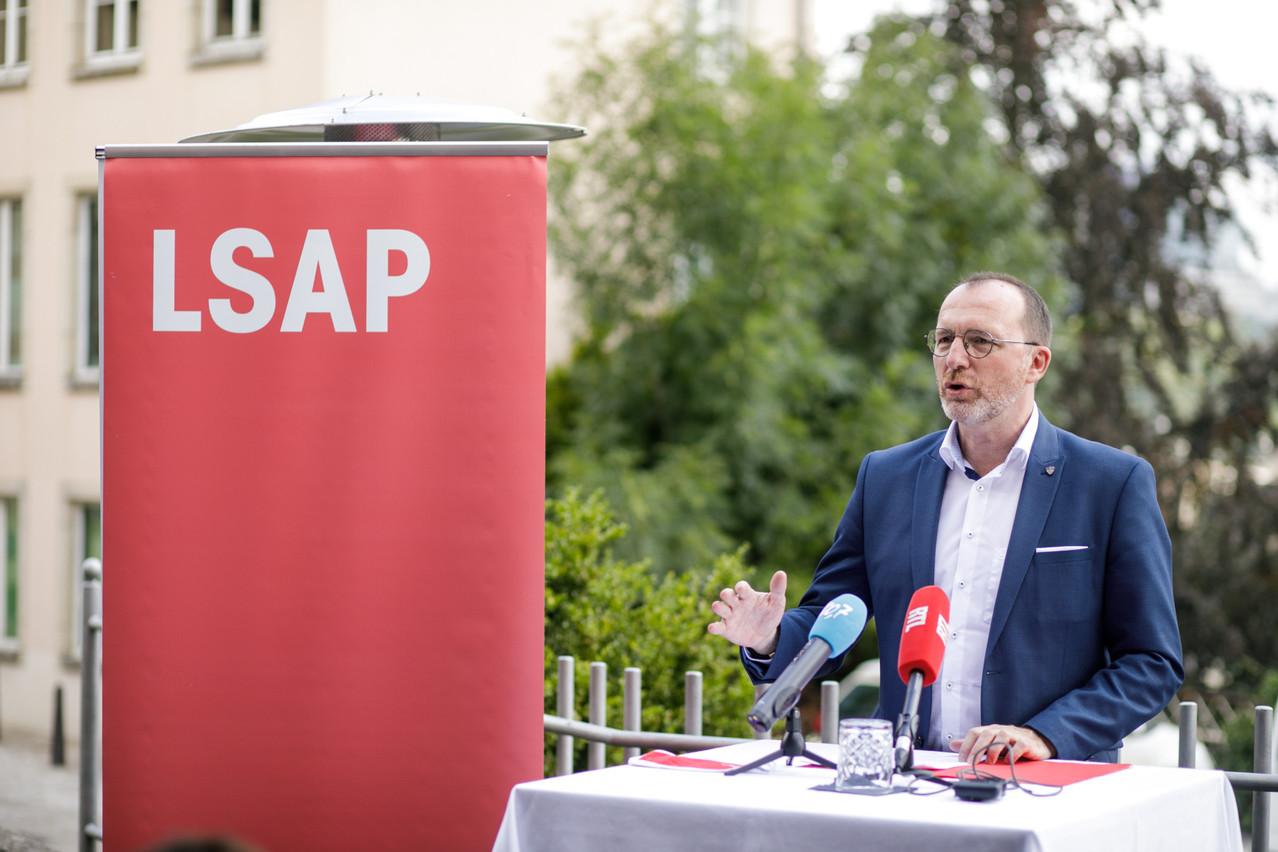 Georges Engel préside la fraction LSAP depuis le départ d'Alex Bodry pour le Conseil d'État en janvier dernier. (Photo: Matic Zorman / archives / Maison Moderne