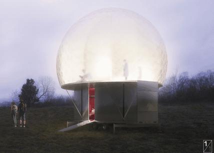 Le projet de 2001 et de Njoy a remporté le concours pour la construction d'un gîte pop-up à Esch-sur-Alzette. (Illustration: 2001-NJOY)