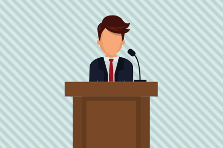 3 out of 4 people experience anxiety at the prospect of speaking in front of an audience.  Crédit : Center Stage