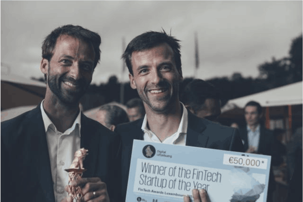 Bert et Rob Boerman, cofondateursde Governance.com, qui avait remporté en 2016 le prix de Fintech de l'année aux Fintech Awards organisés par KPMG et la Lhoft. (Photo: Anna Katina /archives Paperjam)