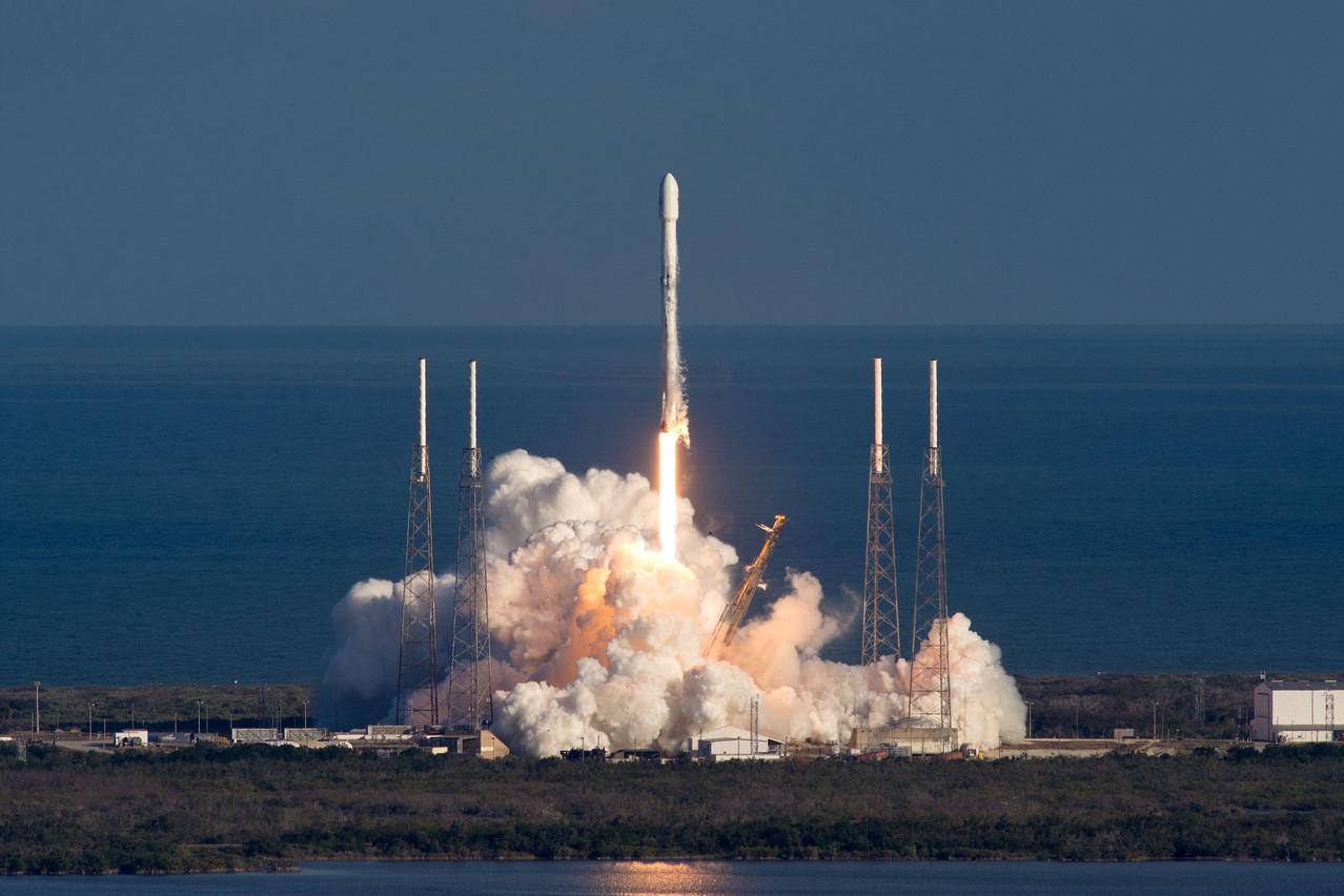 Fin janvier 2018, le premier satellite gouvernemental luxembourgeois décollait à bord d'un Falcon 9 de SpaceX. Deux ans plus tard, le business continue de se développer comme prévu. (Photo: SpaceX)