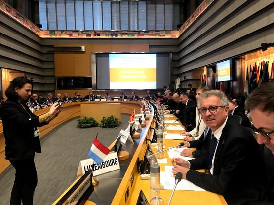 Pierre Gramegna a assisté à la session de printemps du FMI à Washington. (Photo: SIP)