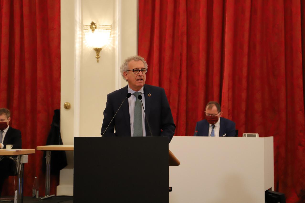«Cette année très exceptionnelle promet de s'achever sur une note plus positive», a assuré le ministre des Finances, Pierre Gramegna (DP), face aux députés lors des débats sur le projet de la loi sur le budget 2021. (Photo: Chambre des députés / Flickr)