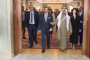 Pierre Gramegna; S.A.R. le Grand-Duc héritier; Cheikh Nahyan Bin Mubarak Al Nahyan; Elisabeth Cardoso; Étienne Schneider. ((Photo: © SIP / Jean-Christophe Verhaegen, tous droits réservés))