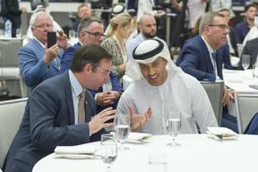 S.A.R. le Grand-Duc héritier; Dr. Ahmad Belhoul Al Falasi. ((Photo: © SIP / Jean-Christophe Verhaegen, tous droits réservés))