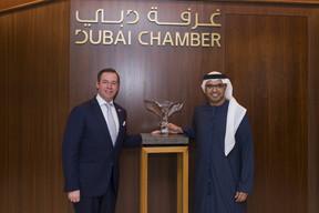 S.A.R. le Grand-Duc héritier; Majid Saif Al Ghurair, président de la Chambre de commerce et d'industrie de Dubaï. ((Photo: © SIP / Jean-Christophe Verhaegen, tous droits réservés))