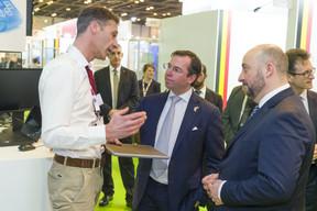 Olivier Gambini, administrateur, Ima-x; S.A.R. le Grand-Duc héritier; Étienne Schneider. ((Photp: © SIP / Jean-Christophe Verhaegen, tous droits réservés))