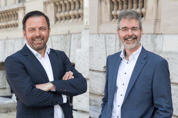 Norbert Brausch et Guy Koster, du département Corporate Banking à Spuerkeess.  Spuerkeess