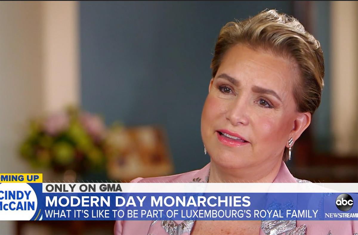 La Grande-Duchesse a fait l'objet d'une interview diffusée dans l'émission emblématique Good Morning America, sur la chaîne ABC. (Illustration: Capture d'écran/ABC)