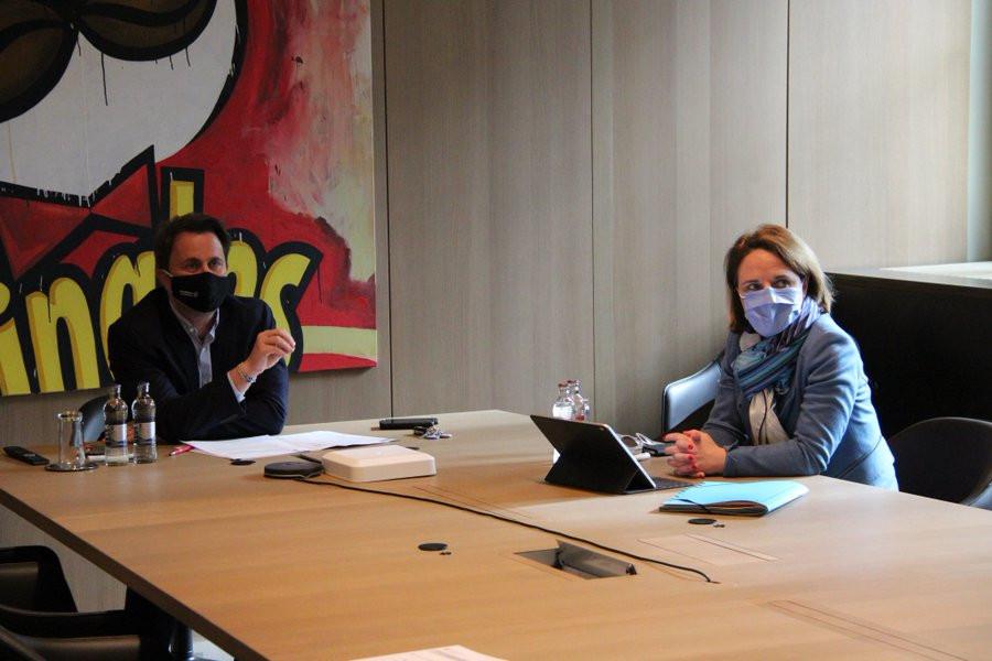 XavierBettel et CorinneCahen ont participé à la réunion de la Grande Région qui se tenait le 17 février dernier. (Photo: Xavier Bettel/Twitter)