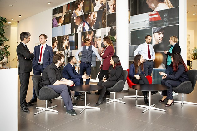 L'équipe d'AXA Wealth Management. (Photo: Maison Moderne)