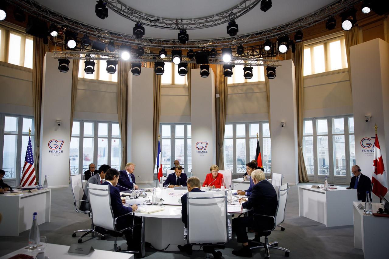 Si le G7 s'annonçait compliqué, il a finalement permis d'aborder tous les dossiers «chauds» du moment. (Photo: Twitter /@JustinTrudeau)