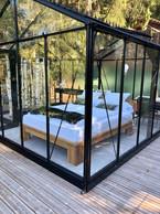"Another angle of the ""glass room"" Photo: La Grange d'Hélène"