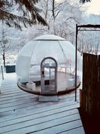 """The """"dome"""" in winter   Photo: La Grange d'Hélène"""