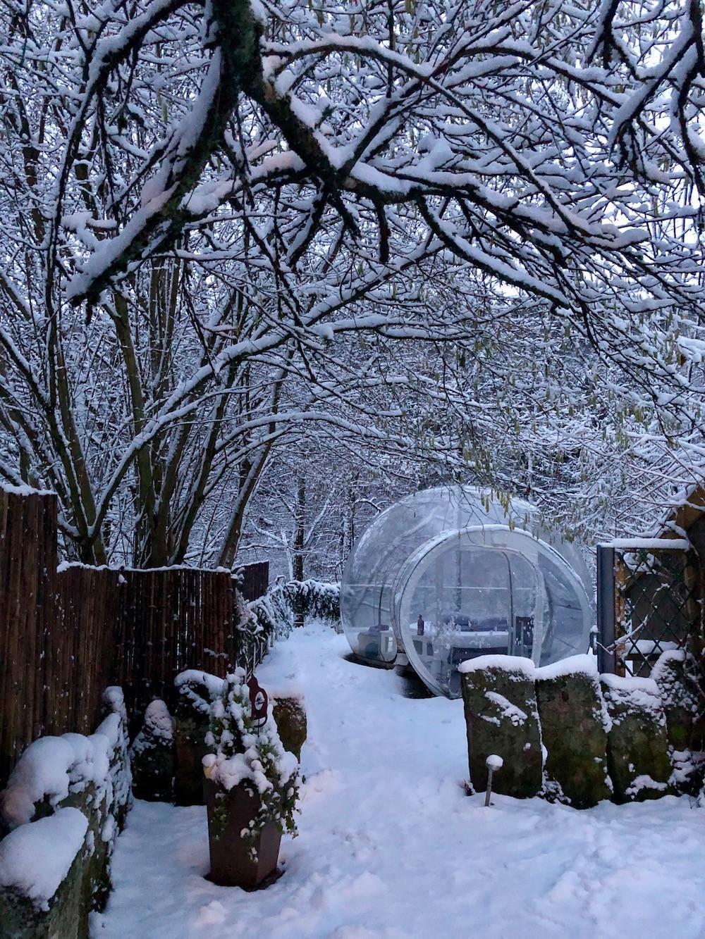 """The """"bubble"""" in winter Photo: La Grange d'Hélène"""