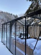 La«chambre de verre» en hiver. ((Photo: La Grange d'Hélène))