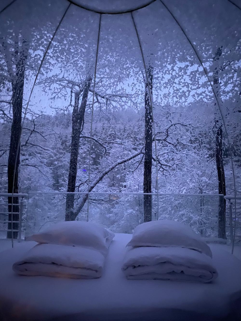 En hiver, la nature révèle un tout autre charme. (Photo: La Grange d'Hélène)