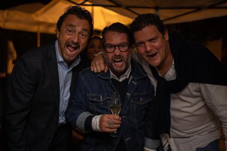 Le champion Henri Leconte, l'humoriste Chicandier et le restaurateur Étienne-Jean Labarrère-Claverie en goguette mardi soir à l'Opéra. (Photo: K&B Production)