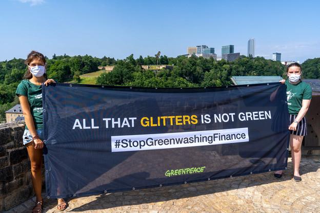 Les militants de Greenpeace gardent Luxembourg dans leur collimateur. (Photo: Greenpeace)
