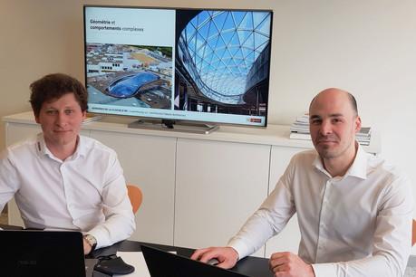 Axel Remont et Jean-François Maissin dirigent le bureau Greisch au Luxembourg. (Photo: Greisch)