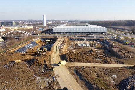 Les travaux de gros œuvre ont commencé sur le chantier du P+R Cloche d'Or. (Photo:Administration des ponts et chaussées)