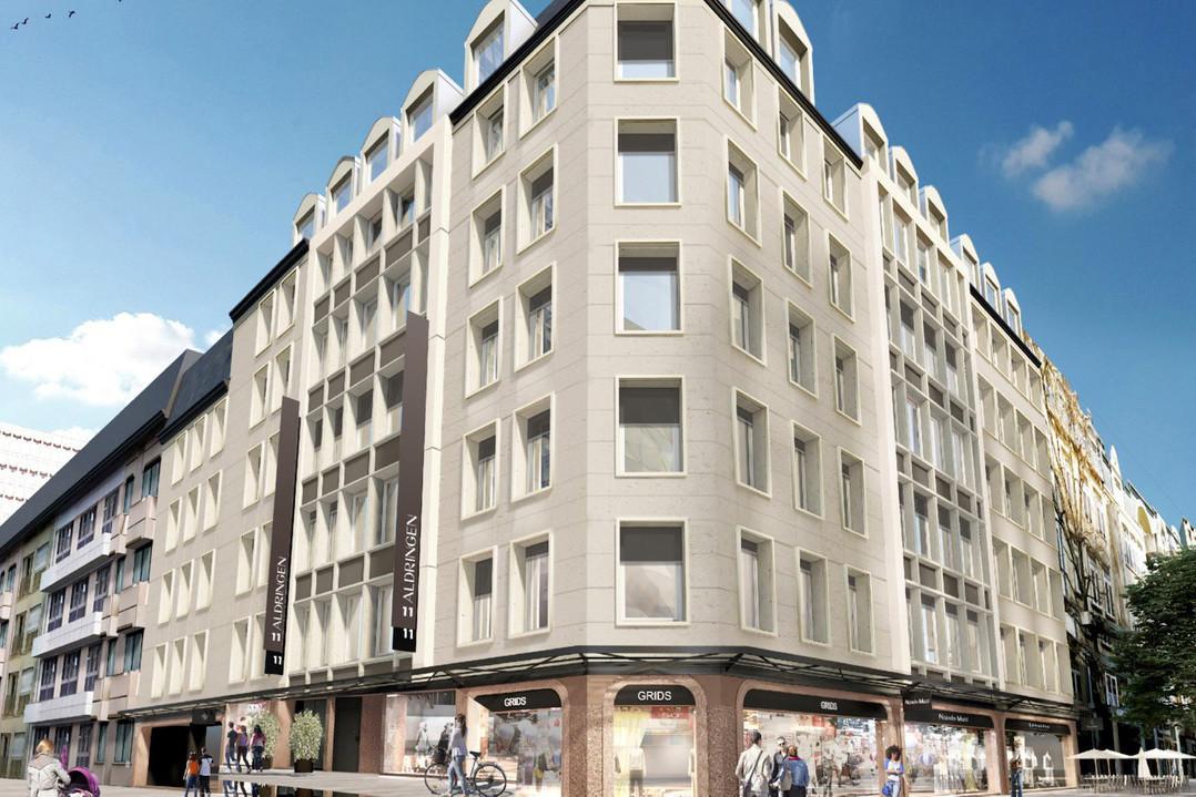 L'immeuble Le Conti, à l'angle de la Grand-Rue et de la rue Aldringen à Luxembourg, est entré dans le portefeuille de Panhard Luxembourg. (Illustration: Panhard Luxembourg)