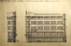 Dessin d'élévation de la façade de l'immeuble. ((Illustration: D.R.))
