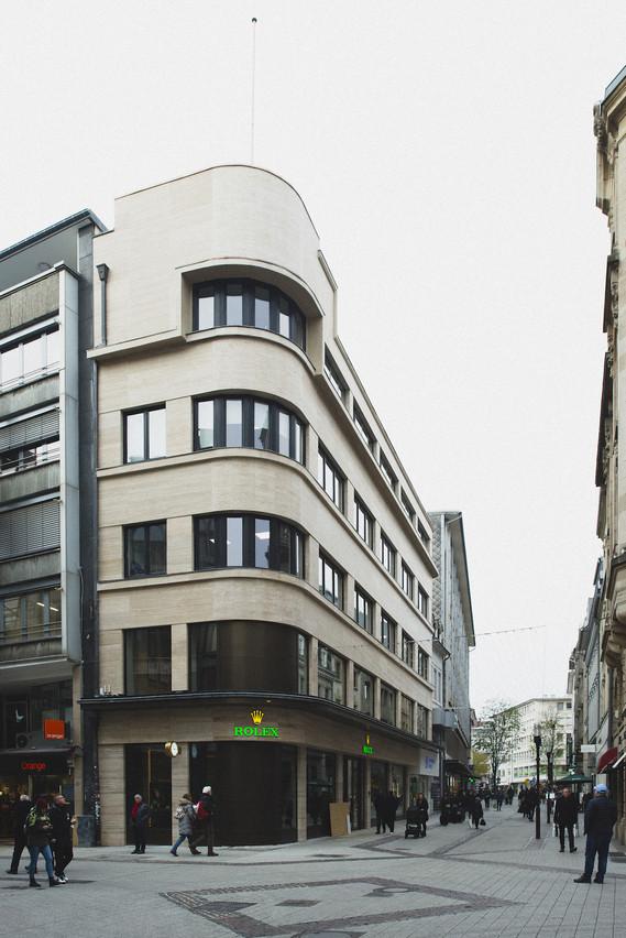 Vue de la façade restaurée. (photo: Sven Becker)