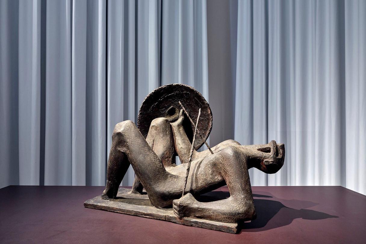 CharlesKohl a réalisé «Guerrier blessé» en 1956. Cette œuvre est actuellement exposée à la Villa Vauban. (Photo: Les 2 Musées de la Ville de Luxembourg/C. Weber)
