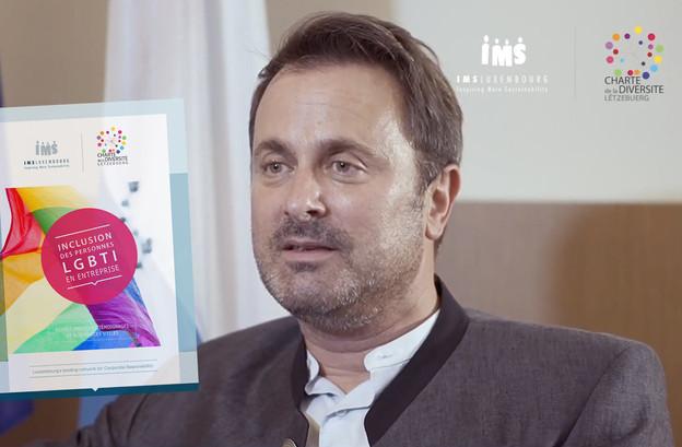 IMS Luxembourg, qui a recueilli le témoignage du Premier ministre, vient de sortir son premier guide pour l'inclusion LGBTI dans le monde de l'entreprise. (Photo: Capture d'écran vidéo IMS Luxembourg)