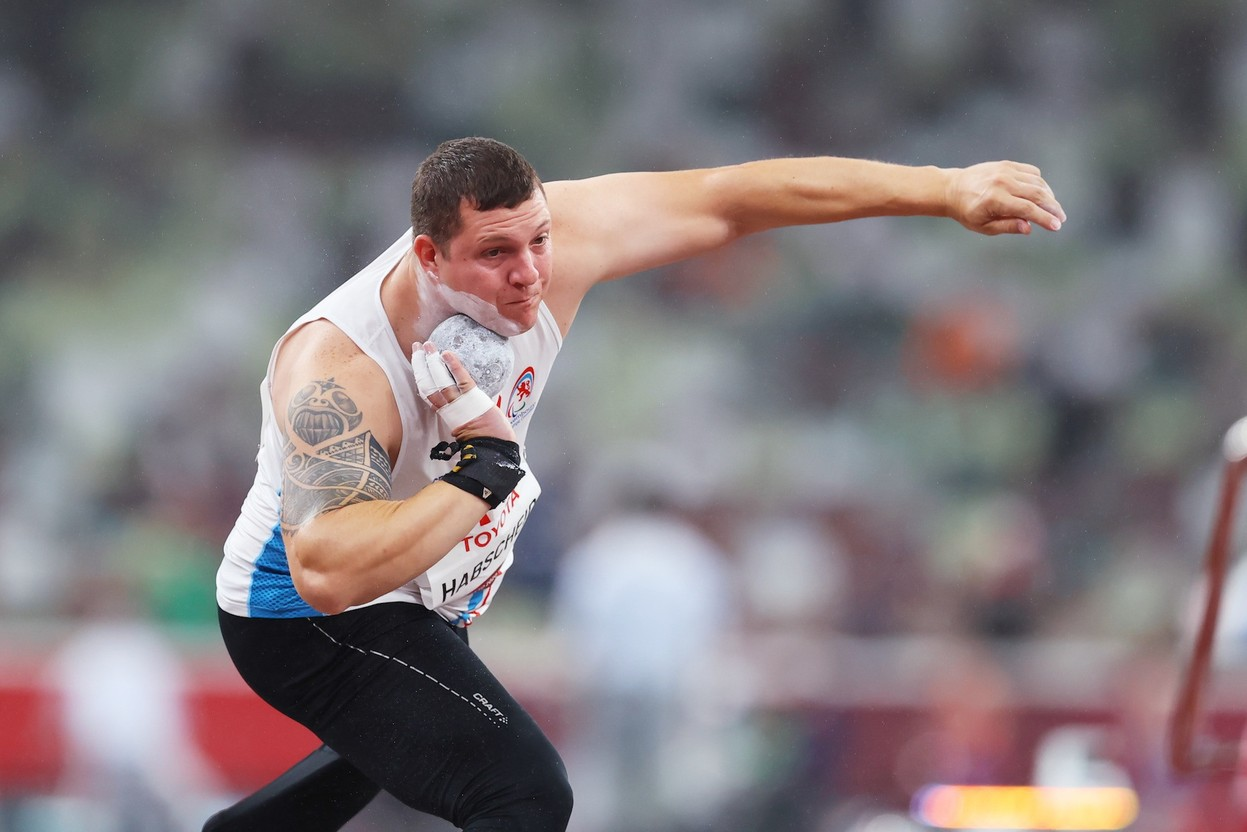 Tom Habscheid is seen competing in the Paralympics standing shot put competition in Tokyo, 5 September 2021. Photo: Luxembourg Paralympic Committee