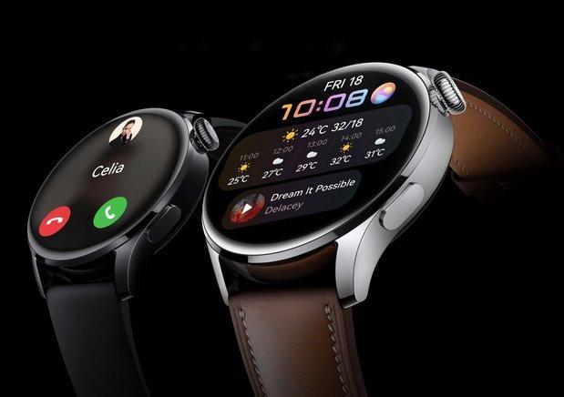 Huawei a profité du lancement de son nouveau système d'exploitation HarmonyOS pour présenter sa nouvelle montre connectée, la Watch 3, qui devrait embarquer une carte eSim pour pouvoir aussi téléphoner. (Photo: Huawei)