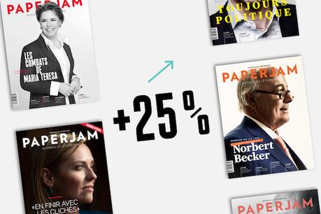 Le lectorat de Paperjam progresse de manière spectaculaire. (Montage: Studio Maison Moderne)