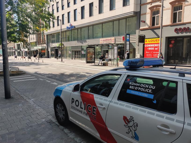The incident took place on Avenue de la Gare on Saturday evening.  (Photo: Paperjam)